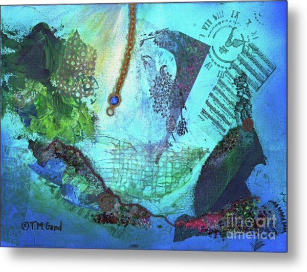 Metal Print featuring the painting Deep Sea Life by TM Gand