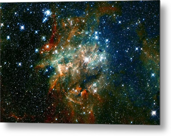 Deep Space Star Cluster Metal Print