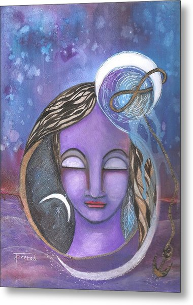 Metal Print featuring the mixed media Deep Within by Prerna Poojara