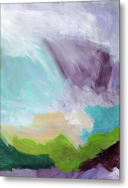 Deepest Breath- Abstract Art By Linda Woods Metal Print