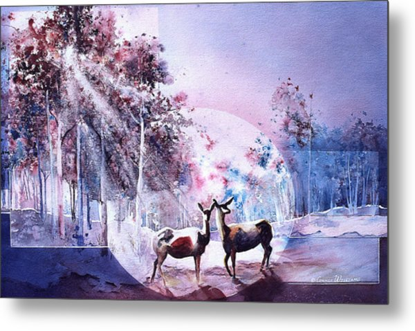 Deer Enchantment Metal Print
