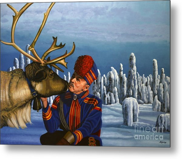 Deer Friends Of Finland Metal Print