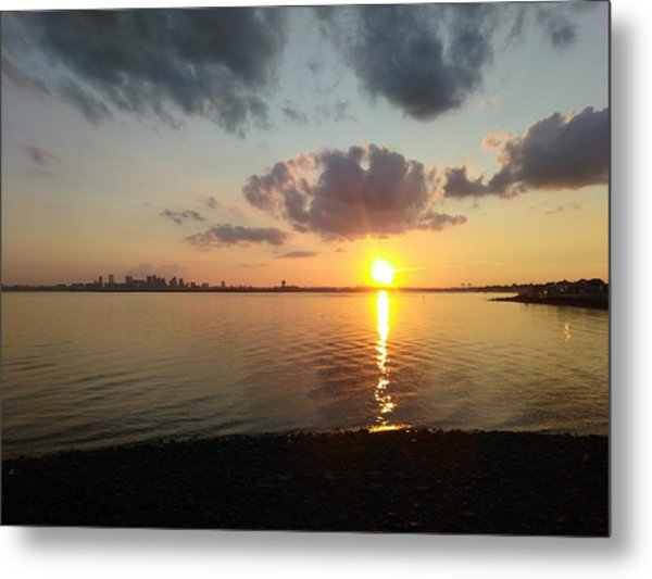 Deer Island Sunset Metal Print