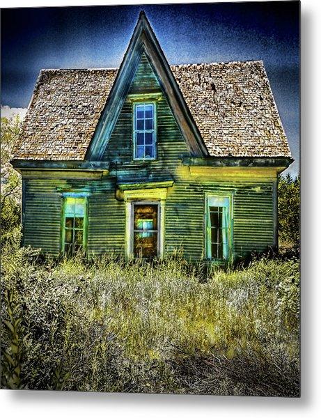 Deer Isle Haunted House Metal Print