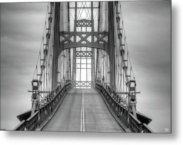 Deer Isle Sedgwick Bridge Metal Print
