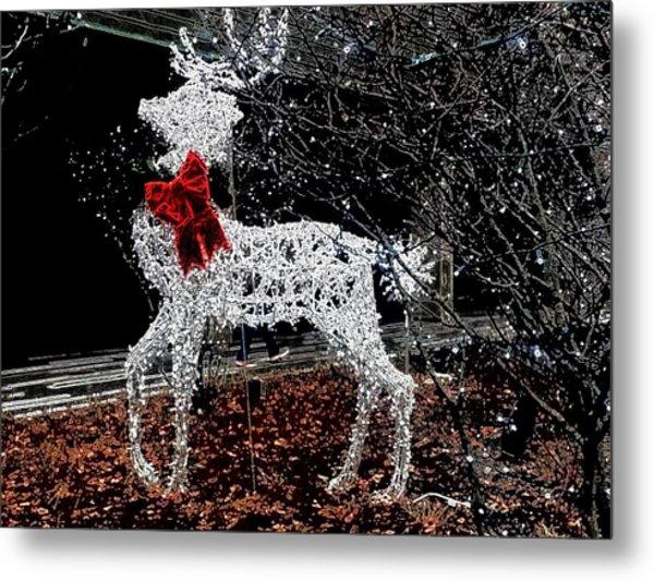 Deer Winter Metal Print