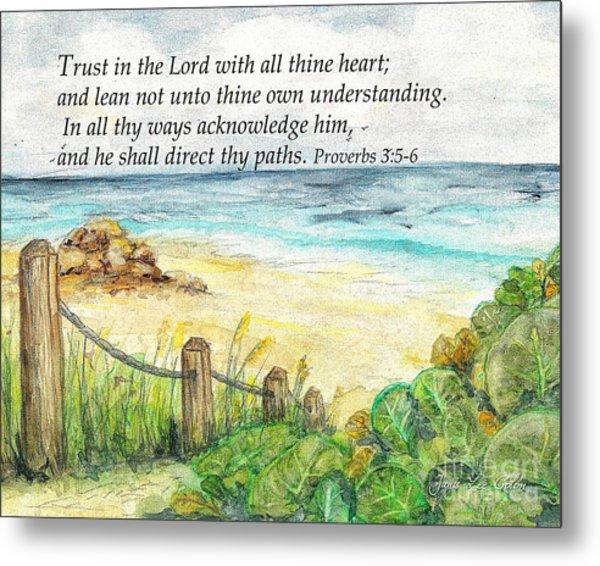 Deerfield Beach Sea Grapes Proverbs 3 Metal Print