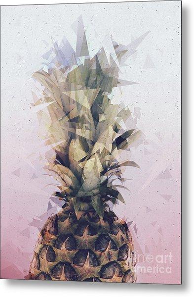 Defragmented Pineapple Metal Print
