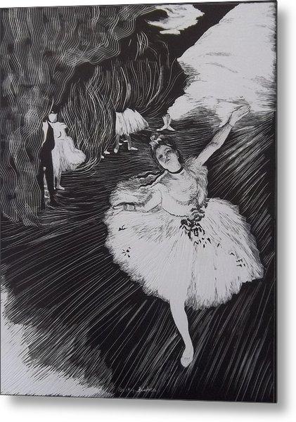 Degas' L'etoile In Scratchboard Metal Print