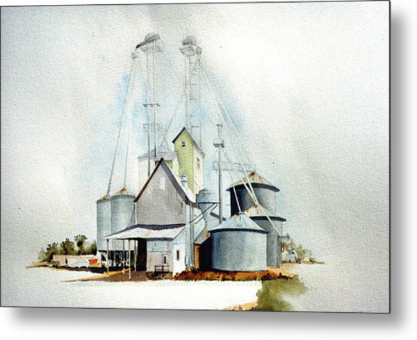 Delaware Grain Metal Print by William Renzulli