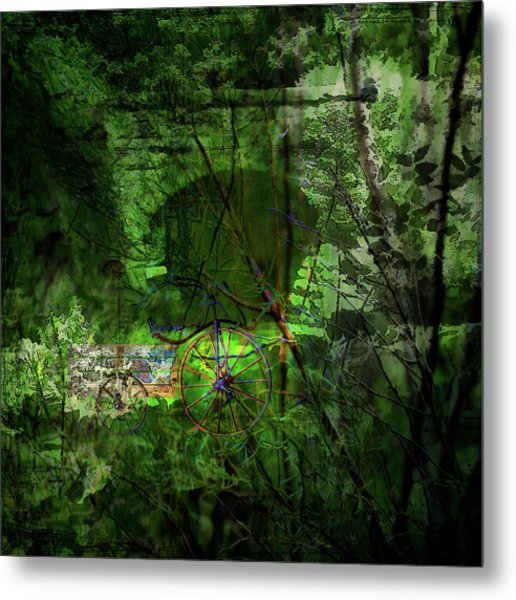 Metal Print featuring the digital art Delaware Green by Richard Ricci