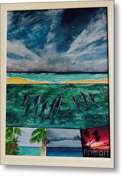 Delfin Metal Print