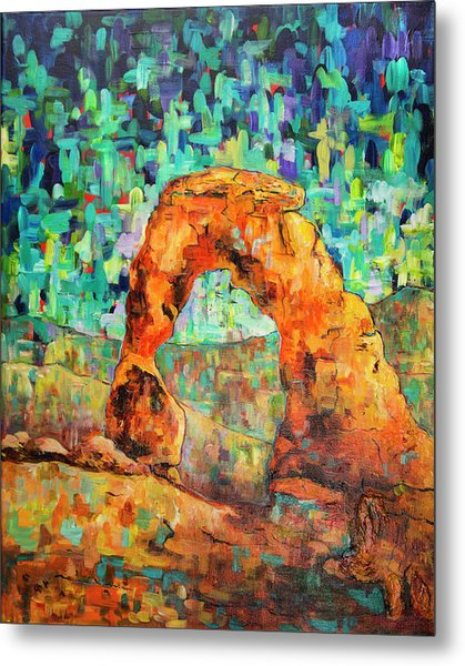 Delicate Arch As An Impression Metal Print
