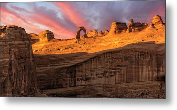 Metal Print featuring the photograph Delicate Arch   by Expressive Landscapes Fine Art Photography by Thom