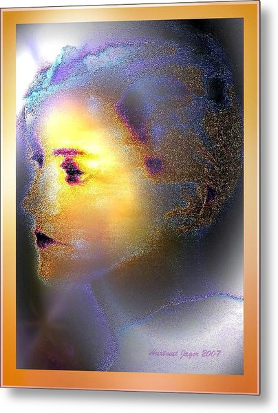 Delicate  Woman Metal Print