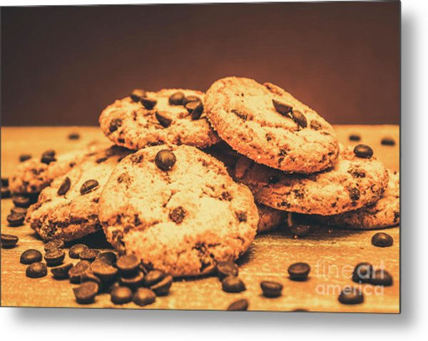 Delicious Sweet Baked Biscuits  Metal Print