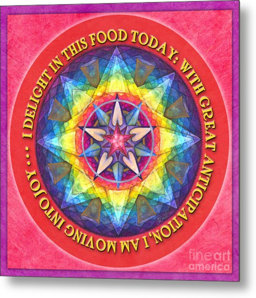 Delight In This Mandala Prayer Metal Print