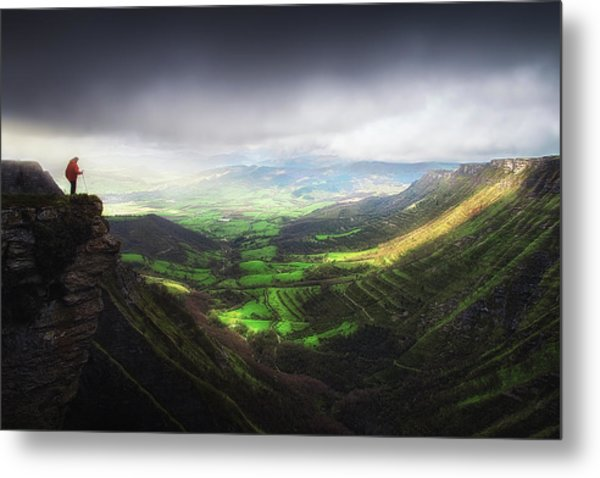 Delika Canyon Metal Print