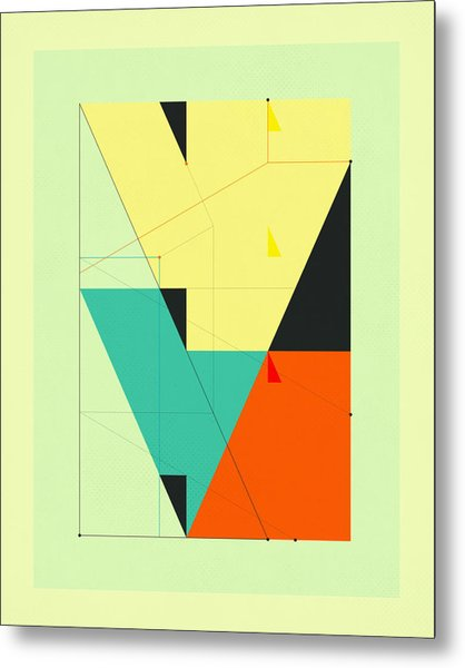 Delineation - Downtown Metal Print