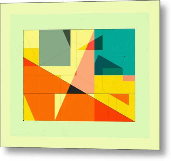 Delineation - Plaza Metal Print