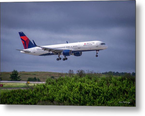 Delta Air Lines 757 Airplane N557nw Art Metal Print