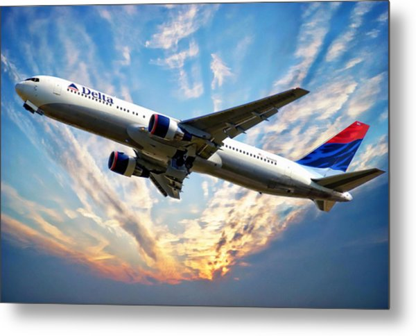 Delta Passenger Plane Metal Print