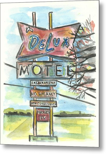 Delux Motel Metal Print by Matt Gaudian