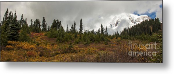 Mt. Rainier - Head In The Clouds Metal Print
