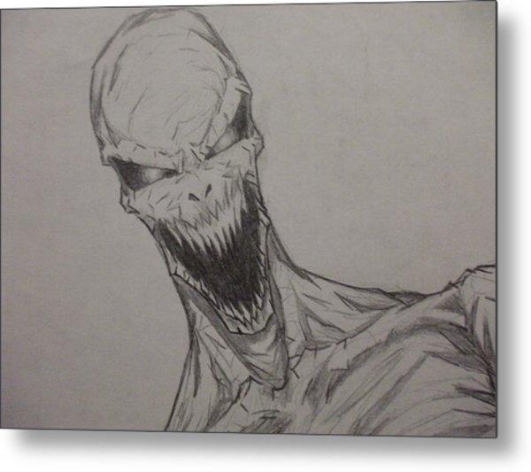 Demon Zombie Metal Print by John Prestipino