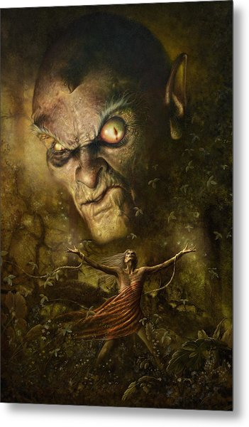 Demonic Evocation Metal Print