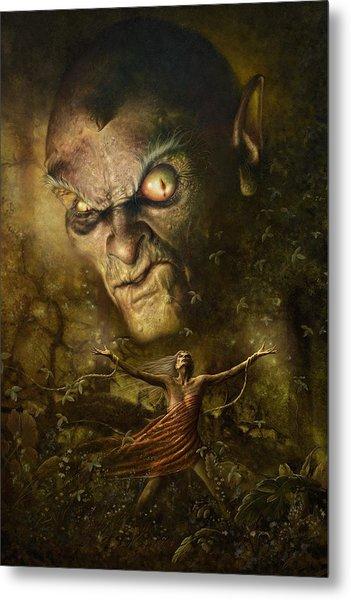 Metal Print featuring the digital art Demonic Evocation by Uwe Jarling