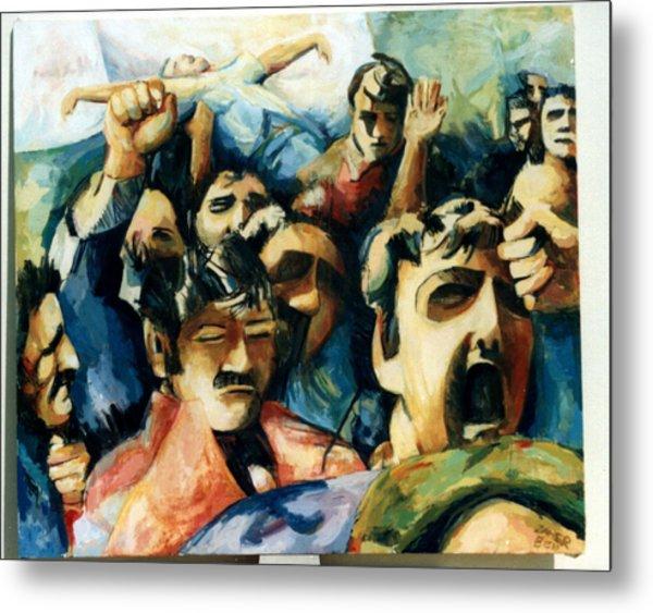 Demonstration - Art In Lebanon Metal Print by Zaher Bizri