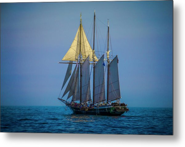 Denis Sullivan - Three Masted Schooner Metal Print