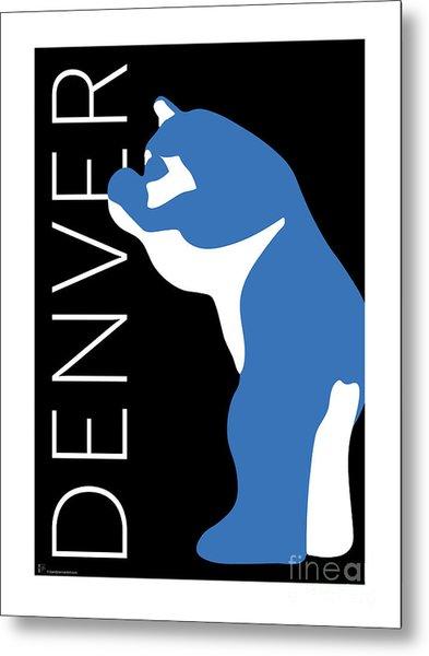 Denver Blue Bear/black Metal Print