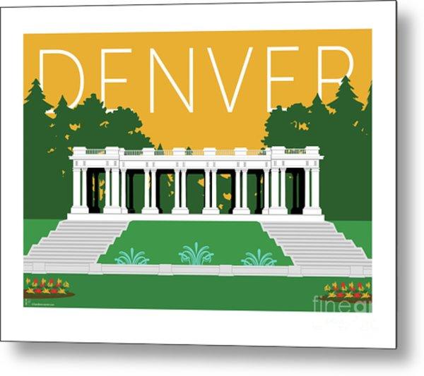 Denver Cheesman Park/gold Metal Print
