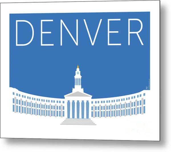 Denver City And County Bldg/blue Metal Print
