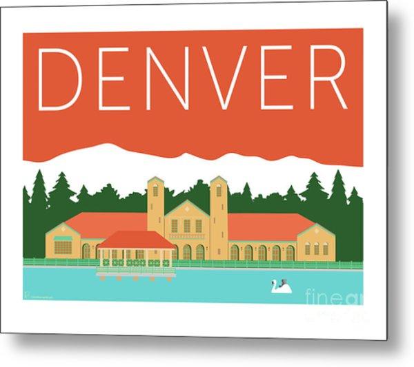 Denver City Park/coral Metal Print