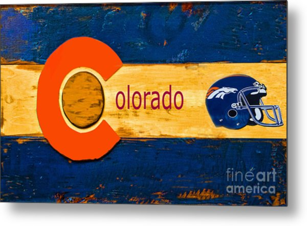 Denver Colorado Broncos 1 Metal Print
