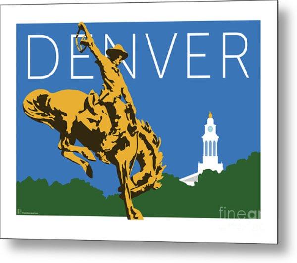 Denver Cowboy/dark Blue Metal Print