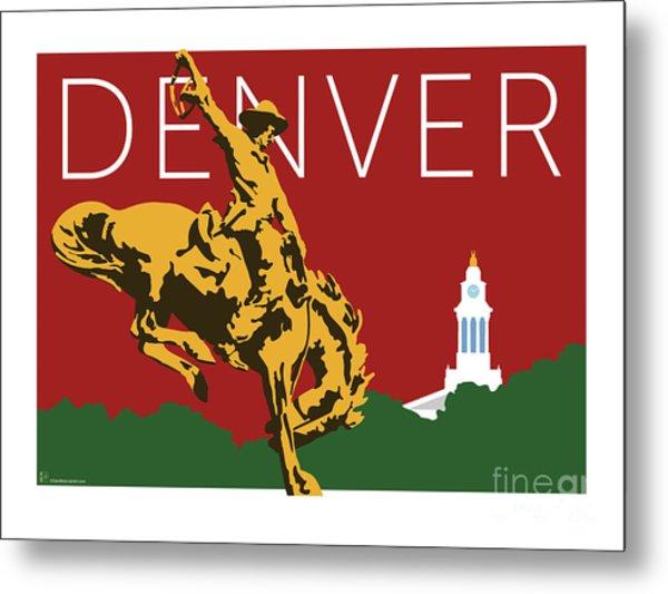 Denver Cowboy/maroon Metal Print