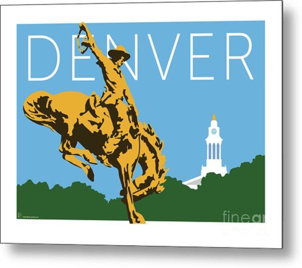 Denver Cowboy/sky Blue Metal Print
