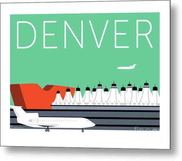 Denver Dia/aqua Metal Print