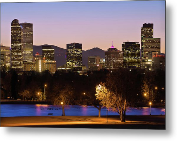 Metal Print featuring the photograph Denver Skyline - City Park View by Gregory Ballos