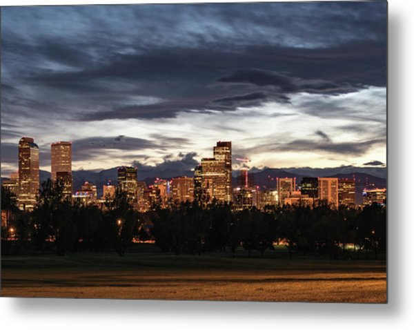 Metal Print featuring the photograph Denver Skyline by Philip Rodgers