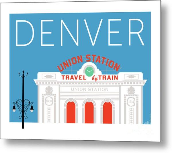 Denver Union Station/blue Metal Print