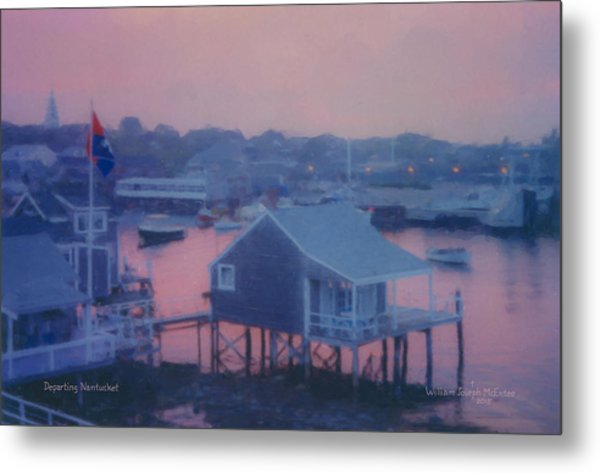 Departing Nantucket Metal Print