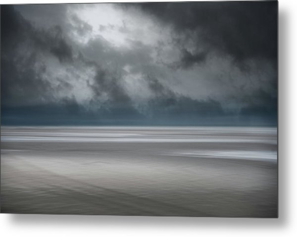 Departing Storm Metal Print