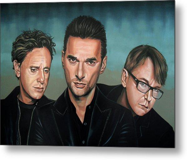 Depeche Mode Painting Metal Print