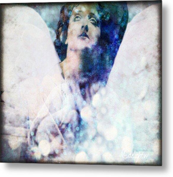 Metal Print featuring the digital art Depression Angel by Delight Worthyn
