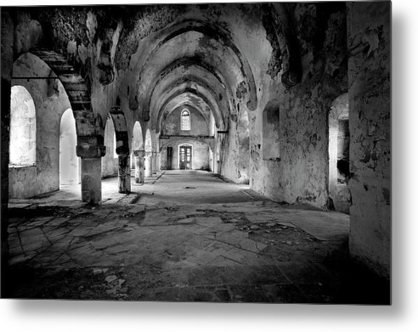 Derelict Cypriot Church. Metal Print